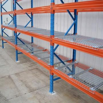 Customized Steel Warehouse Heavy Duty Wire Shelving Rack With Wheels
