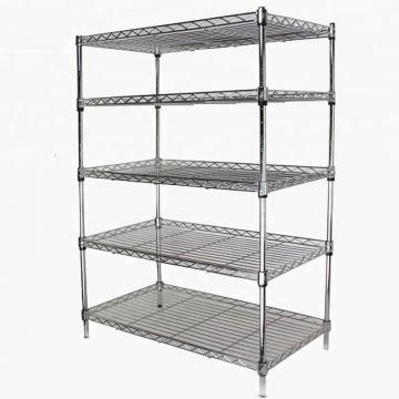 used commercial metallic chrome wire beer coller gondola shop shelves shelving for sale
